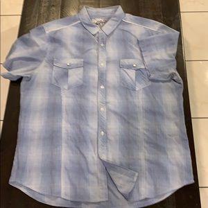 XL Chalk Short Sleeve Button Down Casual Shirt